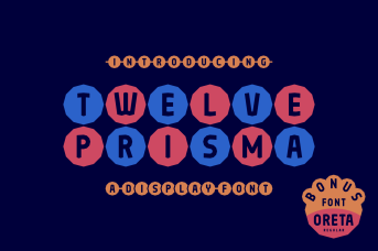 Twelve Prisma Font by 7NTypes_1