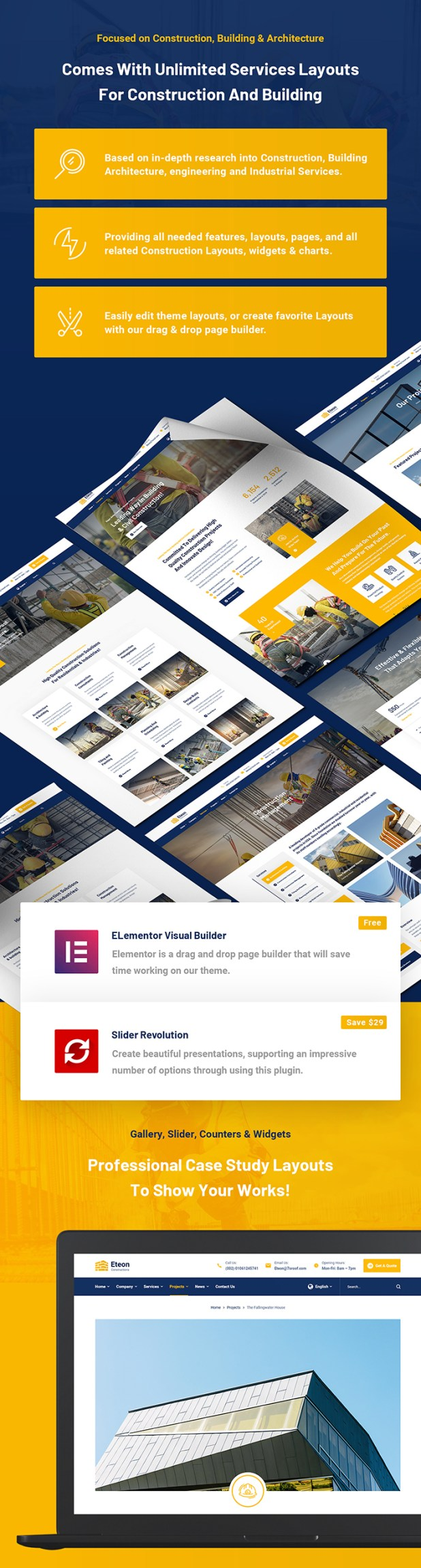 Eteon - Construction And Building WordPress Theme - 6