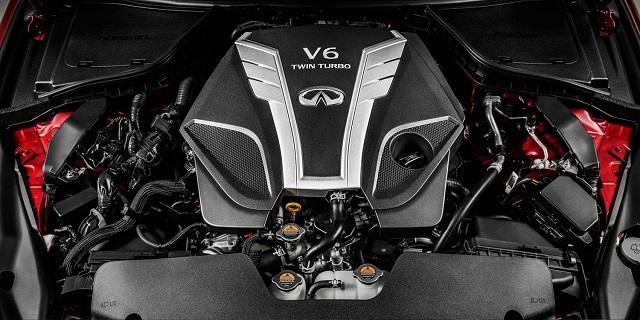 2021 Infiniti QX80 twin turbo engine