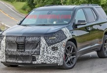 2021 Chevy Traverse Redline spy shot