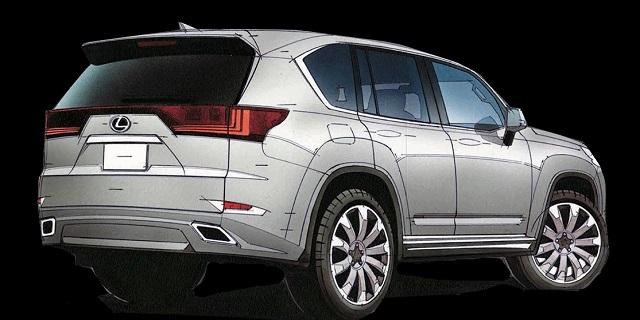 2022 Lexus LX 600 drawing