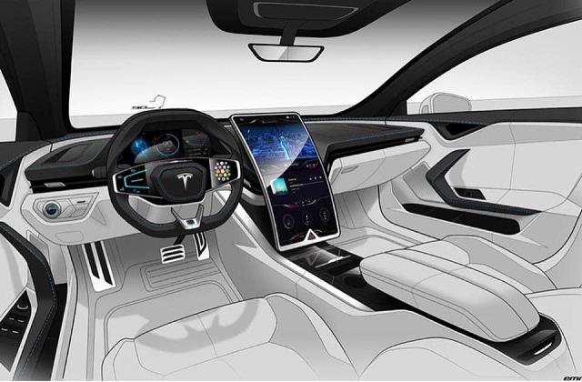 2022 Tesla Model X Interior Rendering