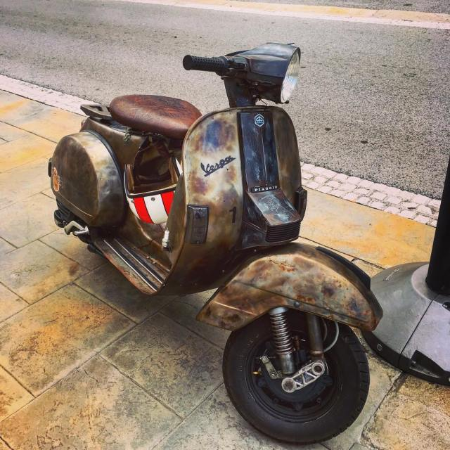 Rat vespa seen in Koper Slovenia vespa 77 77c 7sevencustomshellip