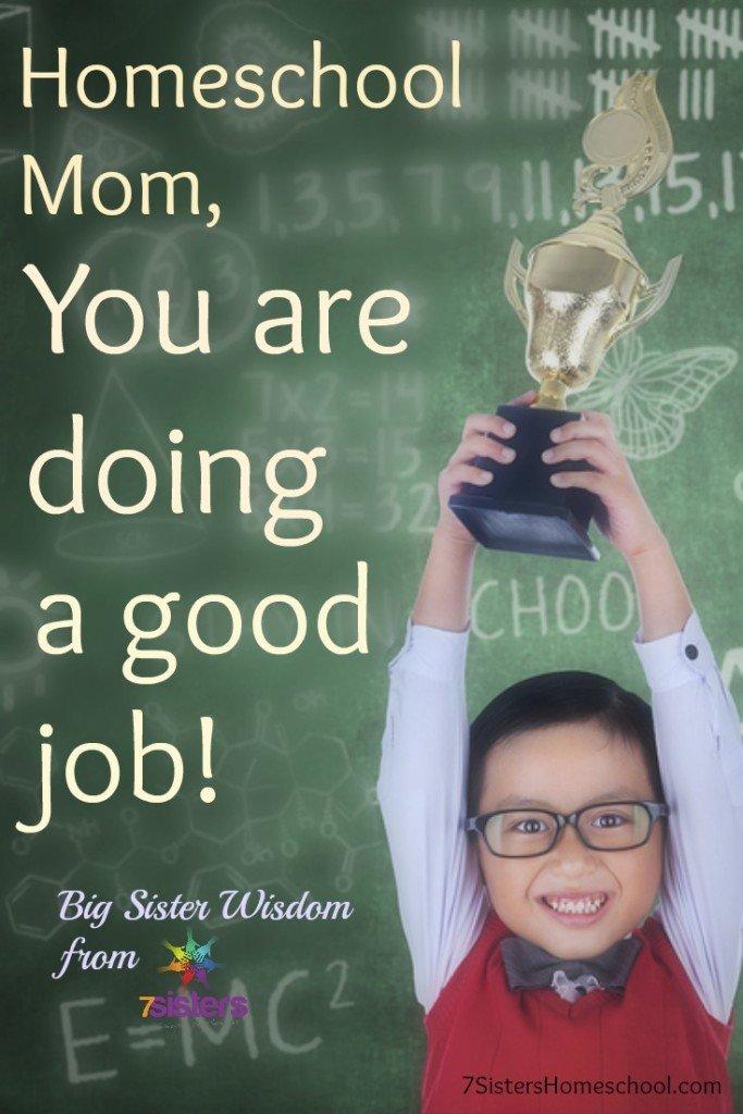 Homeschool Mom you are doing a good job