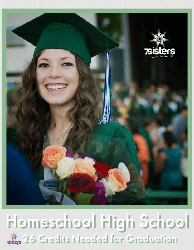 Homeschool High School: The 26 Basic Credits Needed for Graduation. Build a solid homeschool transcript adapted for life or for college prep. #HomeschoolHighSchool #HomeschoolTranscript #HomeschoolHighSchoolCredits #CreditsForHighSchool #CreditsForGraduation