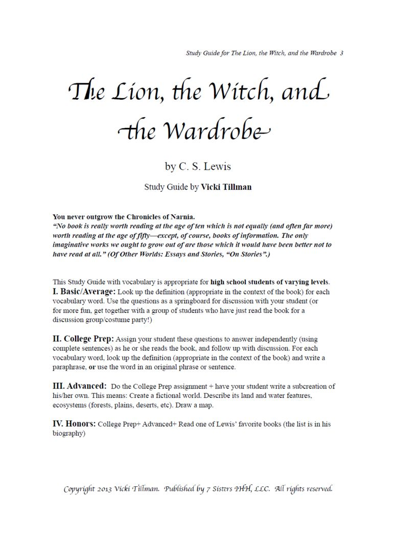 the lion the witch and the wardrobe summary
