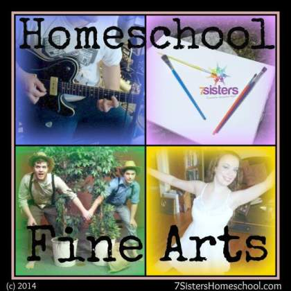 Homeschool Fine Arts Posts from 7SistersHomeschool.com