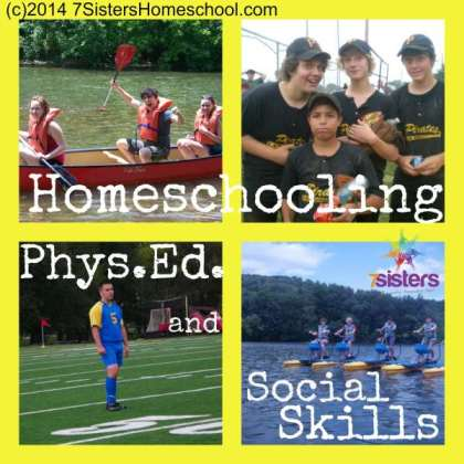Read about Homeschooling Phys Ed and Social Skills