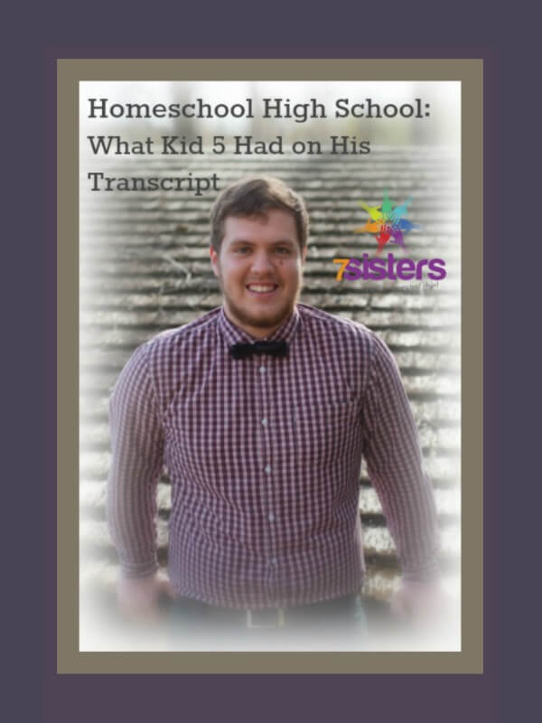 Homeschool High School - What Kid #5 Had on His Transcript