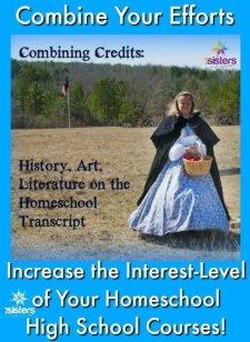 Combining Credits: History, Art, Literature 7SistersHomeschool.com