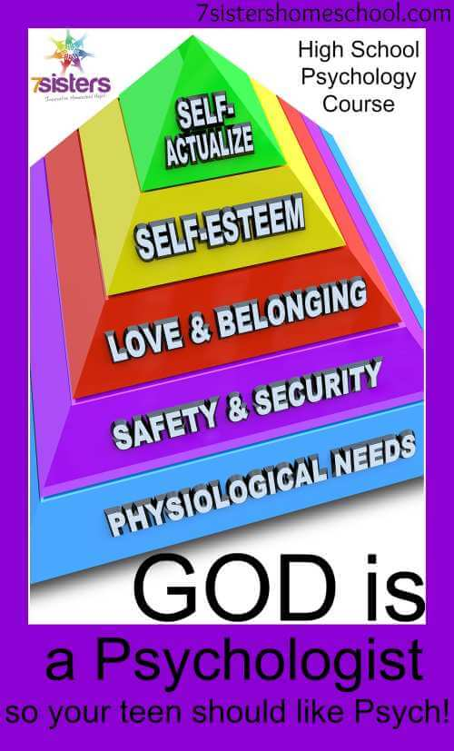 God is a Psychologist- so your teen can like Psych. Why your teen should take a high school Psychology course. 7SistersHomeschool.com