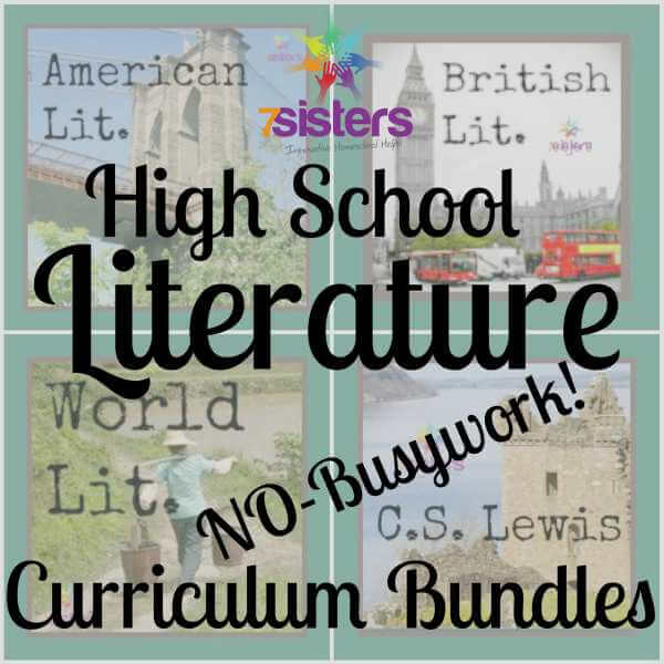 Homeschool High School Literature Curriculum Bundles are great choices for no-busywork, adaptable, meaningful Language Arts studies.