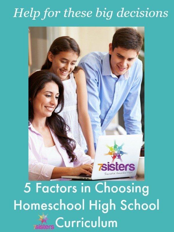 5 Factors in Choosing Homeschool High School Curriculum