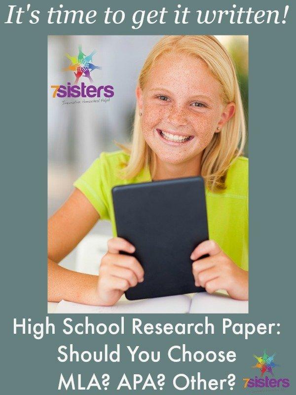 High School Research Paper