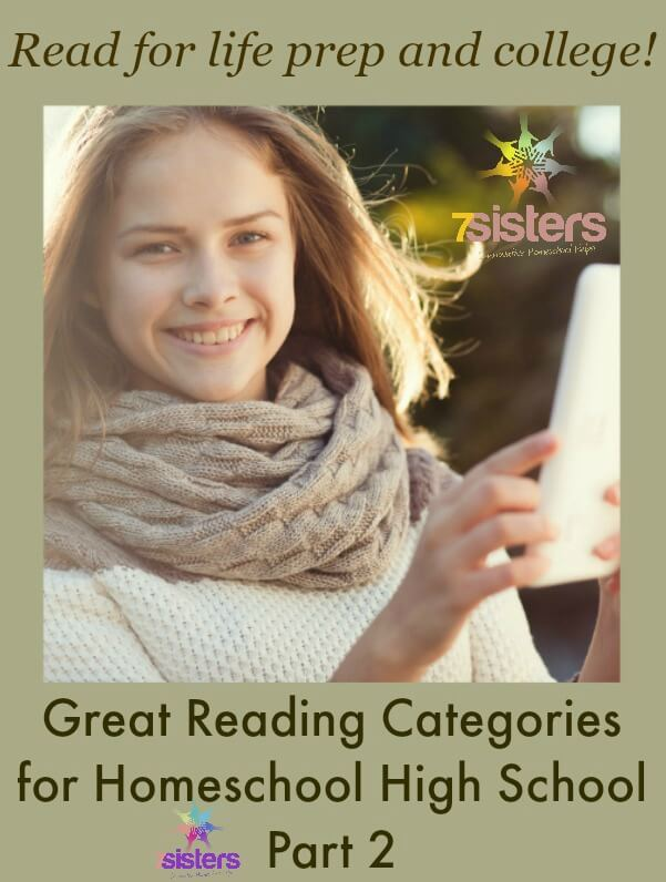 8 Great Reading Categories for Homeschool High School