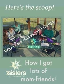 Why I Love Homeschool Co-ops. 7SistersHomeschool.com is a fun bunch of moms who met at co-op!
