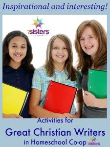 Activities for Great Christian Writers in Homeschool Co-op