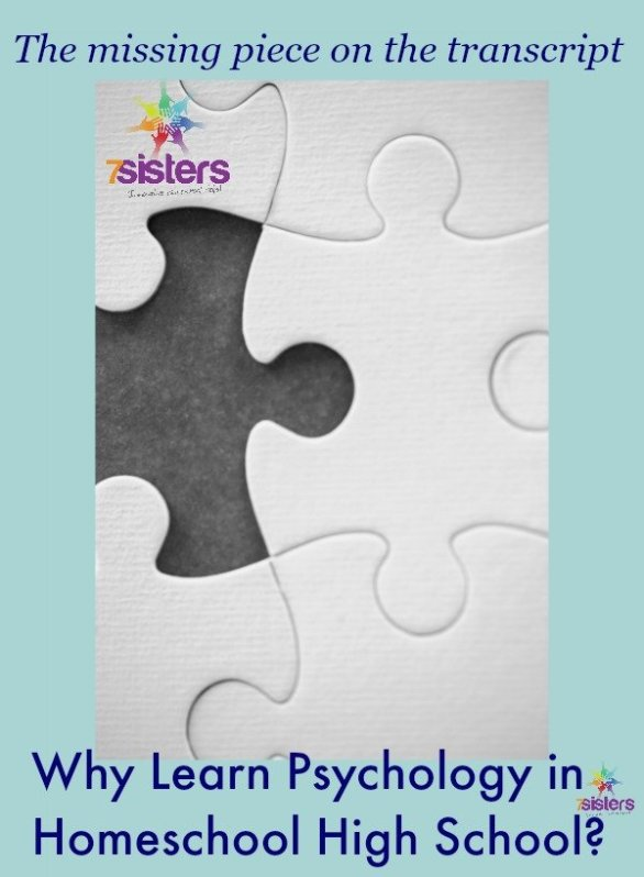 Why Learn Psychology in Homeschool High School? 7SistersHomeschool.com