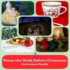 Twas the Week Before Christmas Homeschool Holiday Curriculum 7SistersHomeschool.com