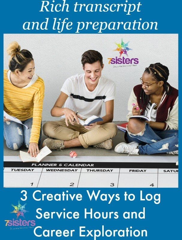3 Creative Ways to Log Service and Life Preparation on Homeschool Transcript