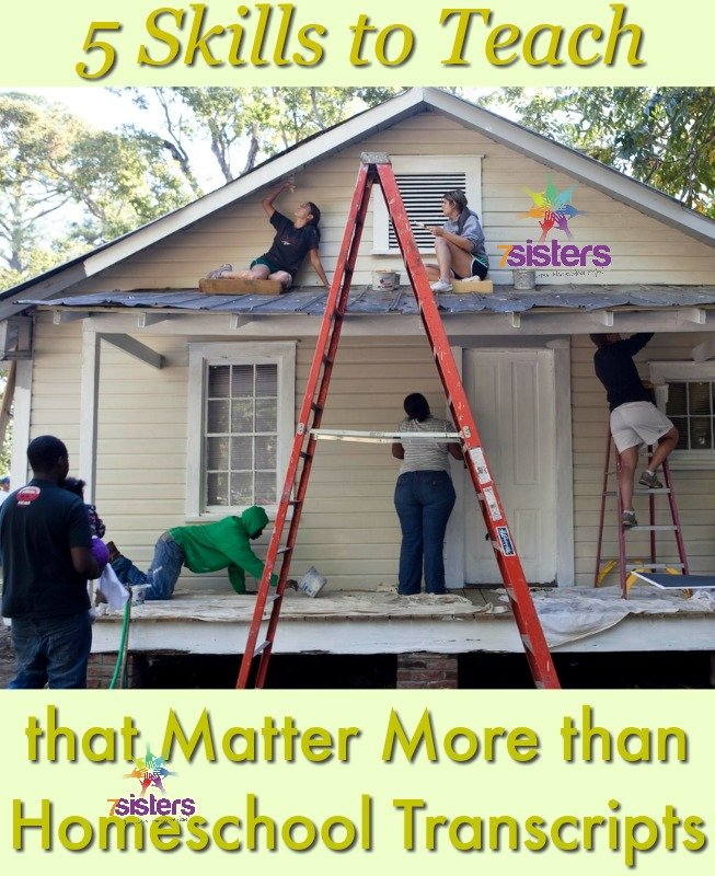 5 Skills to Teach that Matter More than Homeschool Transcripts