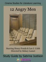 12 Angry Men Cinema Study Guide