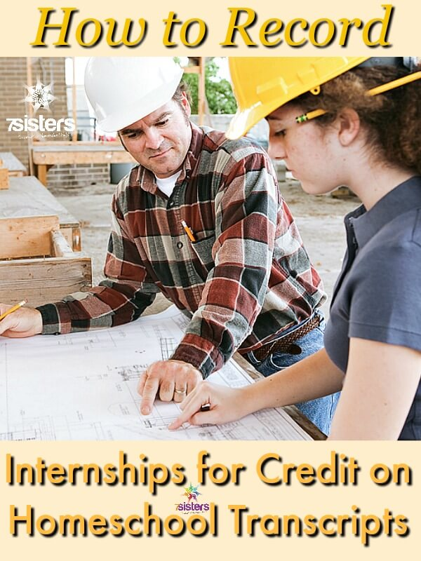 What is an internship and how to record it on the homeschool transcript?