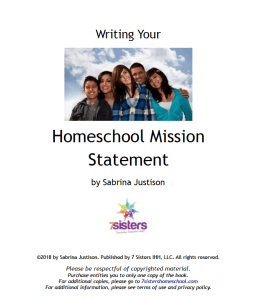 Homeschool Mission Statement FREE Download from 7SistersHomeschool.com