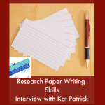 HSHSP Ep 144: Writing Research Papers, Interview with Kat Patrick 1-15-19 Research papers may sound intimidating but you and your teens can do it! Join Vicki and our friend, Kat Patrick as they share tips for helping homeschool high schoolers develop skills for research paper writing.