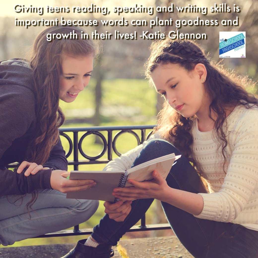 Giving teens reading, writing and speech skills can give them words that plant goodness and growth in their lives.