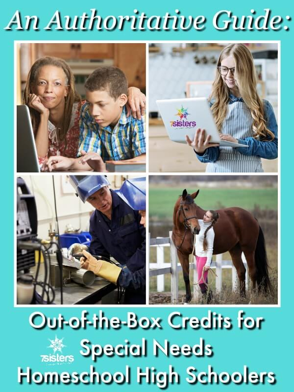 An Authoritative Guide to Out-of-the-Box Credits for Special Needs Homeschool High Schoolers. There are lots of inspiring, creative ways for struggling learners to earn credits in homeschool high school.