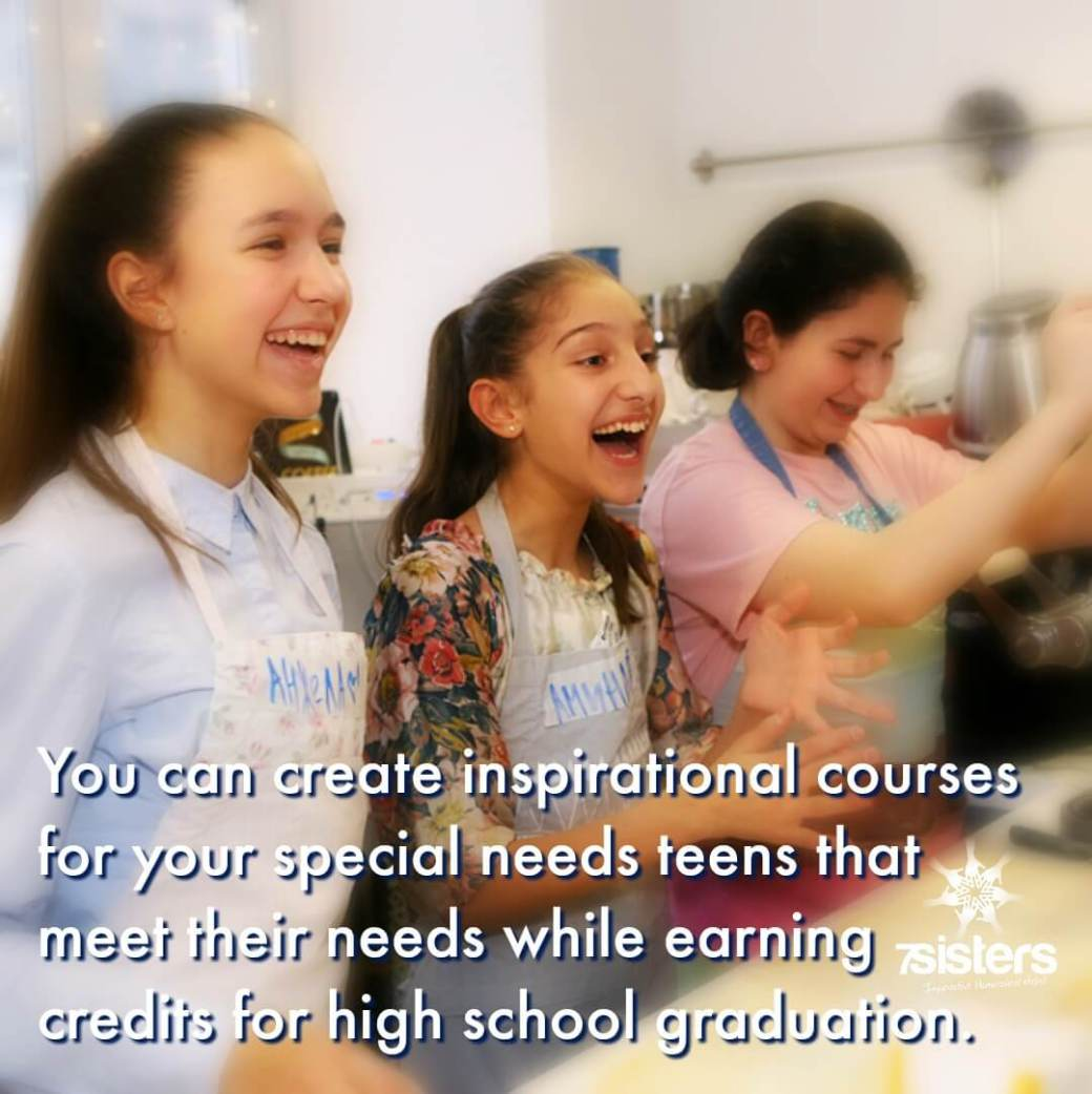 You can create interesting, inspirational courses for your teens that meet their needs while earning credits for high school graduation! #HomeschoolHighSchool #HomeschoolSpecialNeeds