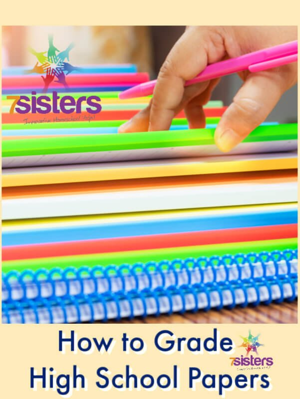 How to Grade High School Papers. Homeschool high school students write lots of papers. Here is a simple guide to help moms feel confident about grading homeschool high school writing assignments. #HomeschoolHighSchool #HomeschoolLanguageArts #HowToGradePapers #HowToGradeHighSchoolPapers #HowToGradeHomeschoolWritingAssignments