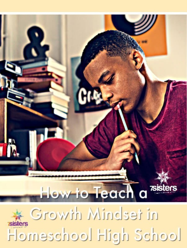 How to Teach a Growth Mindset in Homeschool High School #HomeschoolHighSchool #GrowthMindset #TeachingTeensGrowthMindset