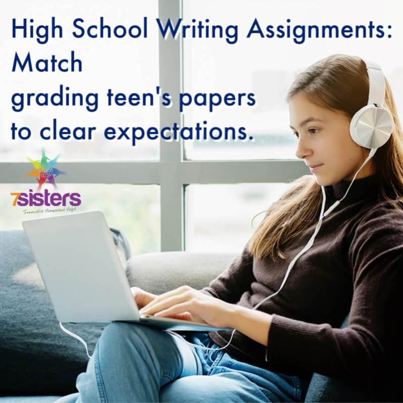 High School Writing Assignments. Don't grade them all alike. Match grading teen's papers to clear expectations for good learning experiences.