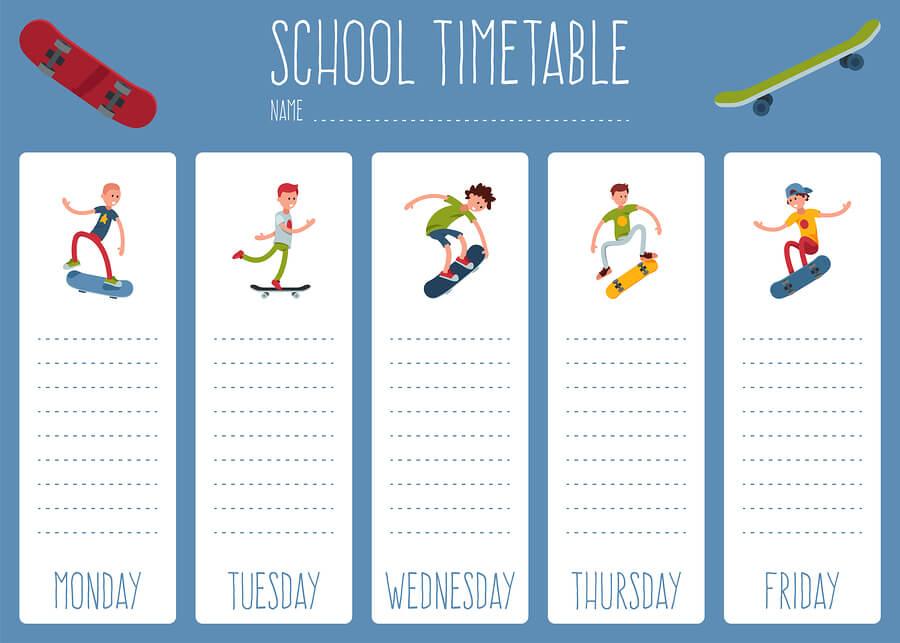 Weekly task list for homeschool high schoolers.