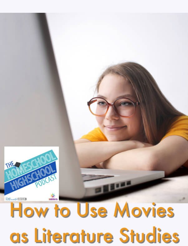 How to Use Movies as Literature Studies. Cinema studies as literature studies is a solid part of Language Arts credit for high school. Here is how to make it work. #HomeschoolHighSchoolPodcast #HomeschoolHighSchool #MoviesForLearningLiterature #CinemaStudiesForLiteratureLearning #MoviesForLanguageArts