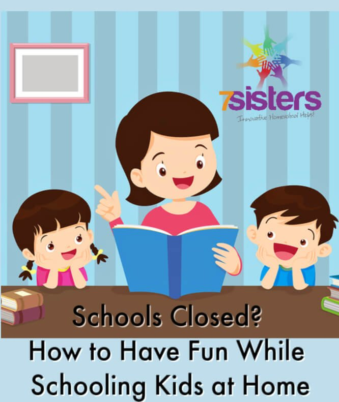 Schools Closed? How to Have Fun While Schooling Kids at Home. Tips for scheduling, resources and dealing with anxiety in k-8 kids doing school at home during coronavirus crisis.