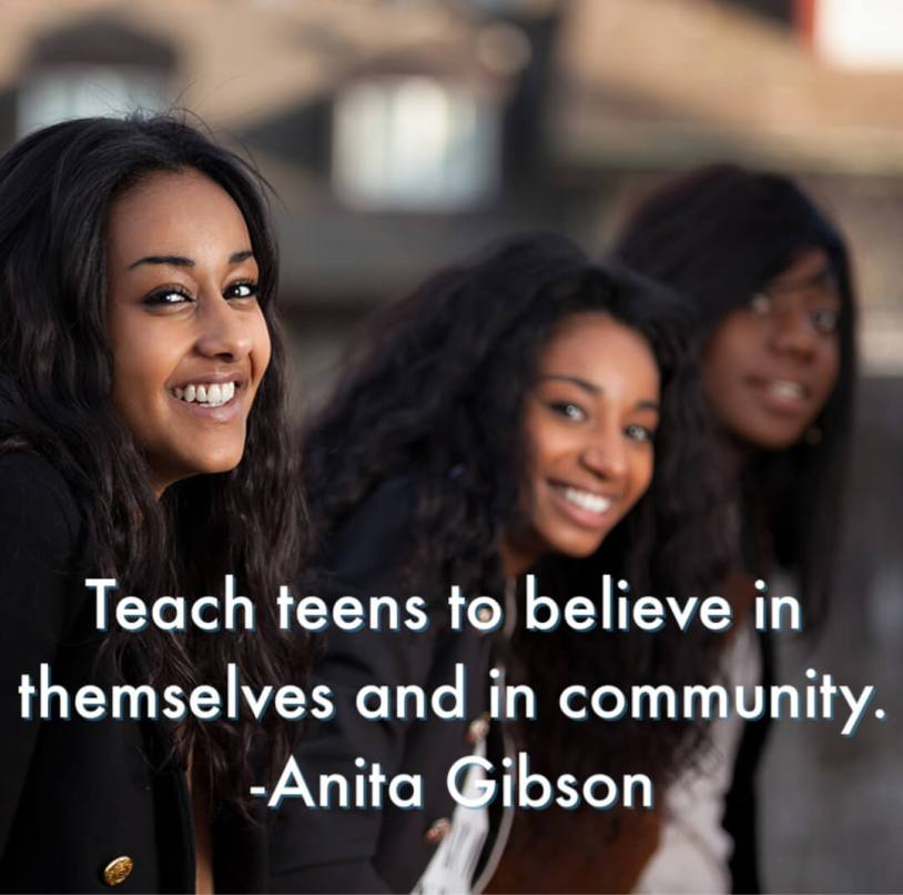 Teach teens to believe in themselves and in community. -Anita Gibson #HomeschoolHighSchoolPodcast #AnitaGibson #SelfConfidence #SocialSkills