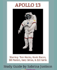 Apollo 13 Cinema Study Guide. Enhance Language Arts credits with movies for literature with this study guide. #CinemaStudiesForLiterature #MoviesForLiterature #HomeschoolLiterature #HighSchoolEnglish #7SistersHomeschool