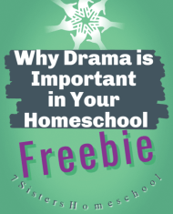 drama important in your homeschool