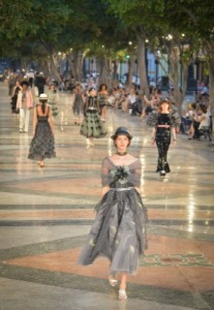Canel's performance at the Prado promenade in Havana, on May 3, 2016. / AFP / ADALBERTO ROQUE