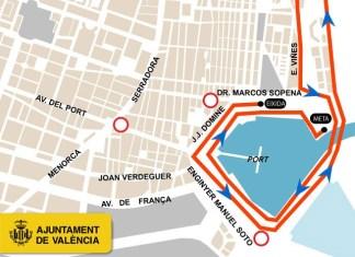 Cierre calles al tráfico por carrera en Valencia