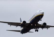 avión aborta su aterrizaje