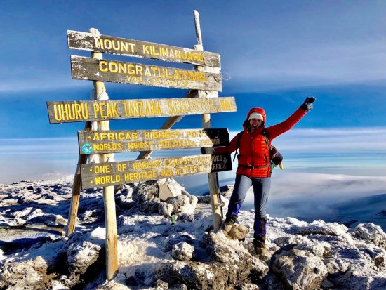 After spending two weeks in Africa visiting schools and villages in Tanzania and Zanzibar with Wide Awake Missions, out of Fort Collins, Colorado, members of the group opted to climb Mt. Kilimanjaro. Above, Holly Fortier, a junior at Chico High School, made it to the summit (19,341 feet elevation) on Aug. 1. Holly was the only member of the group from the West Coast. (Contributed photo)