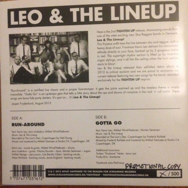 Leo & The Lineup - Run-around | Back