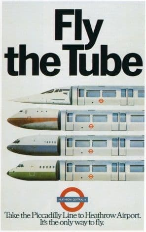 london underground poster fly the tube