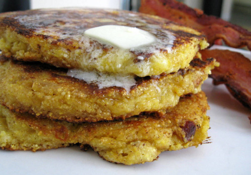 Corn Cheddar Bacon Pancakes (Submitted by The Michael Roma via vanillakitchen)