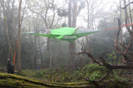 This Suspended Tent Lets You Sleep In The Trees