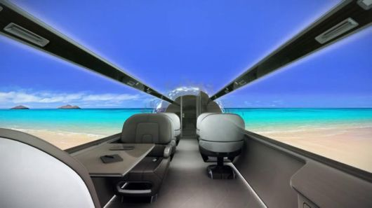 The Dollar 60 Million Windowless Private Jet concept